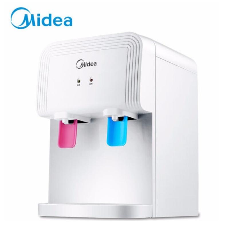 美的 YR1220T 饮水机 家用办公迷你台式温热型饮水器 白色