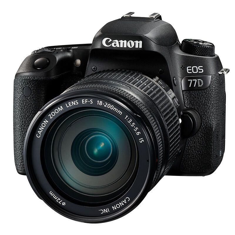 佳能(canon)数码单反 EOS 77D (佳能18-200mm 镜头)照相机
