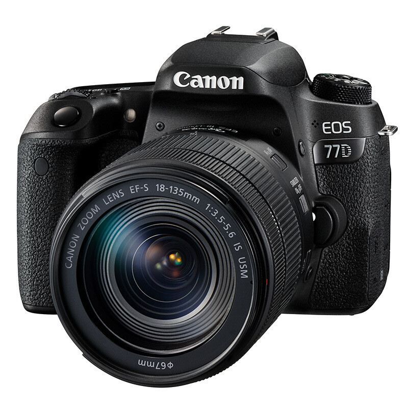 佳能EOS-77D 单反套机 18-135mm镜头(主机+128G+相机包) 照相机