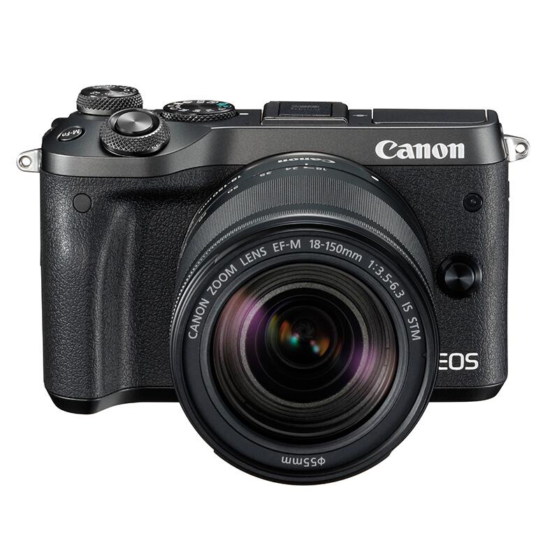 佳能/Canon EOS-M6 微单相机 18-150mm镜头(128G+相机包+三脚架) 照相机