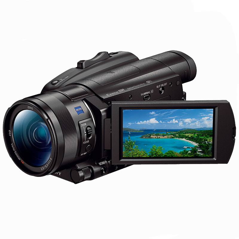 索尼(Sony) FDR-AX700 高清数码摄像机(128GB内存卡+摄影包+摄影架+清洁套装+读卡器)