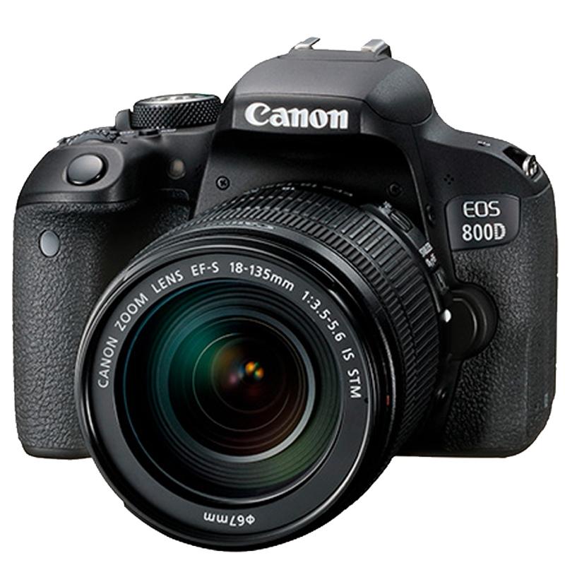 佳能 EOS-800D 单反套机 EF-S 18-135mm镜头(128G内存+相机包)照相机