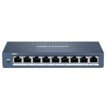 海康威视 DS-3E0F09P(C)/TA 交换设备 非网管百兆POE交换机