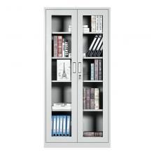 洛来宝 1800*850*390mm 钢制文件柜 通体玻璃加厚款 档案文件柜