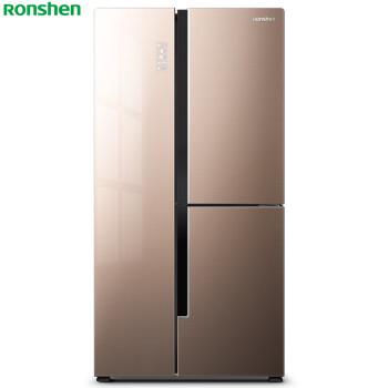 容声(Ronshen) 529升 T型对开三门冰箱 一级能效 变频 杀菌 智能 彩晶玻璃 婵娟棕BCD-529WD11HPCA 电冰箱
