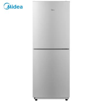 美的(Midea)170升 时尚双门冰箱 节能静音 低温补偿 深冷速冻 浅灰色 BCD-170M(E)电冰箱