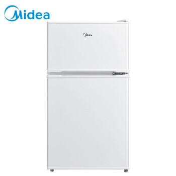 美的(Midea)88升 双门迷你小冰箱 租房办公室家用冷冻冷藏电冰箱 小型 节能静音不占地(白色) BCD-88CM