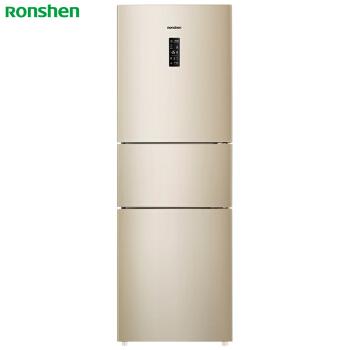 容声(Ronshen) 253升 三门冰箱 一级能效 变频 风冷无霜 宽幅变温AIF保鲜 智能 金BCD-253WD16NPA 电冰箱