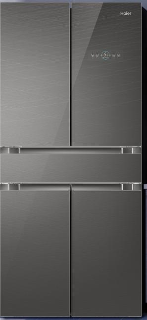 海尔 (Haier ) 476升变频风冷无霜中字多门五门冰箱干湿分储母婴专属空间中门全变温BCD-476WDEUU1 电冰箱