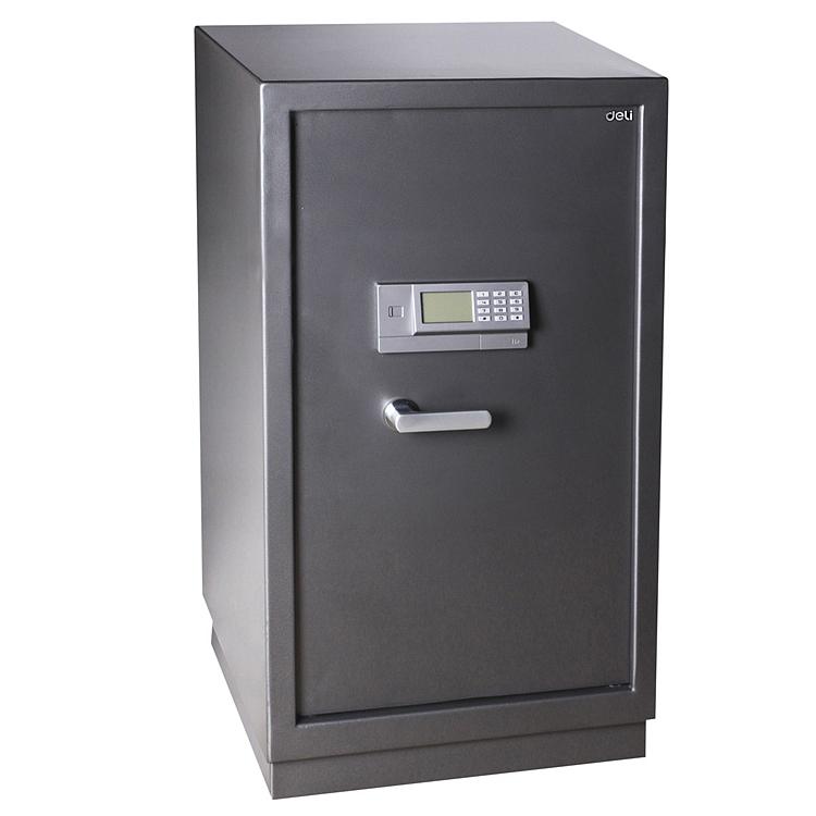 得力3658电子密码保管箱保险柜(银灰)(台)