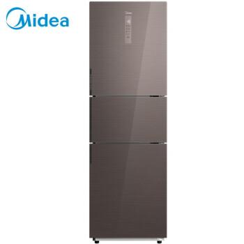 美的(Midea)256升 抗菌保鲜 双变频无霜三门冰箱 小型家用三开门电冰箱 摩卡棕BCD-256WTGPM(E)