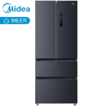 美的(Midea)426升 智能多门冰箱 19分钟急速净味 杀菌一级双变频无霜 莫兰迪灰BCD-426WTPZM(E) 电冰箱