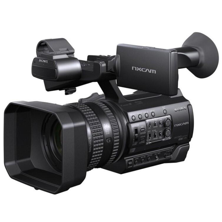 索尼(SONY) HXR-NX100 专业便携式摄录一体机 摄像机 CMOS传感器 约1420万像素(含64G内存卡、相机包)