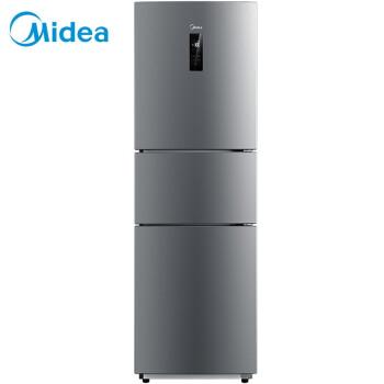 美的(Midea)258升 风冷无霜 电脑控温 中门24档调温三门冰箱速冷速冻 节能 炫彩钢 BCD-258WTM(E) 电冰箱
