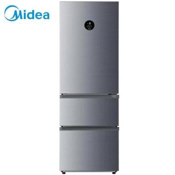 美的(Midea)321升 智能双变频三门电冰箱 风冷无霜一级能效 温湿精控 抗菌保鲜 星际银 BCD-321WTPM(E)