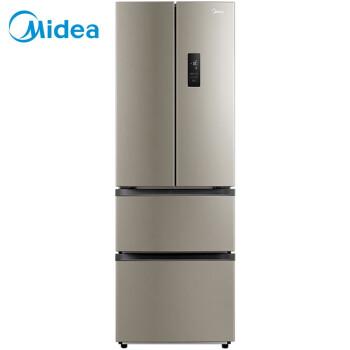 美的(Midea)318升 多门冰箱 双变频 风冷无霜 分区储存APP控制智能电冰箱 星际银BCD-318WTPZM(E)