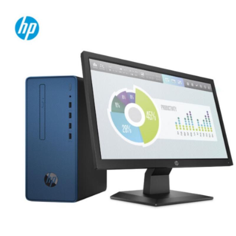 惠普(HP) 218 Pro G5 MT 台式计算机 G5400/4G/1TB/集显/无光驱/11升机箱/23.8英寸显示器
