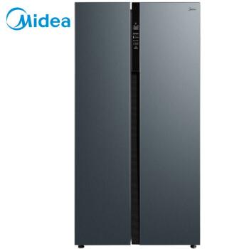 美的(Midea)531升 对开门 智能双变频无霜 一级能效 温湿精控 家用双开门电冰箱 炫晶灰 BCD-531WKPZM(E)