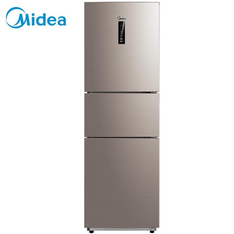 美的(Midea)228升 三门冰箱 变频无霜 日耗电0.6度 APP控制 智能电冰箱 爵士棕BCD-228WTPZM(E)