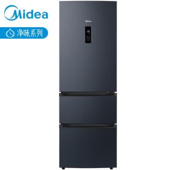 美的(Midea)325升 三门冰箱19分钟急速净味除菌一级能效双变频智能WiFi操控家用电冰箱 BCD-325WTPZM(E)