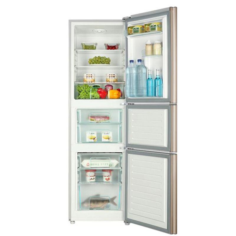 海尔(Haier)206升电冰箱三门冷藏家用节能静音金色 BCD-206STPP