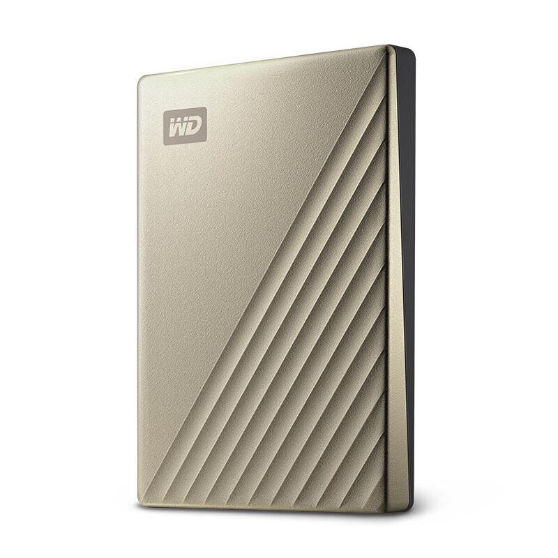 西部数据/WD My Passport Ultra 移动硬盘 2TB Type-C接口 金色 兼容Mac