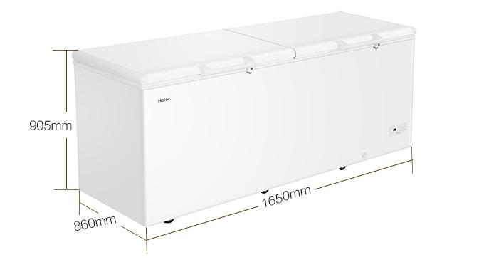 海尔 电冰箱 卧式冷冻柜 大富豪商用冷藏冷冻转换保鲜柜 顶开门大容量冰柜 BC/BD-516HEZ 516升