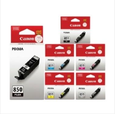 佳能(Canon) CLI-851 (六色套装)原装墨盒(适用MG7580、MG7180、MG6380、iP8780)