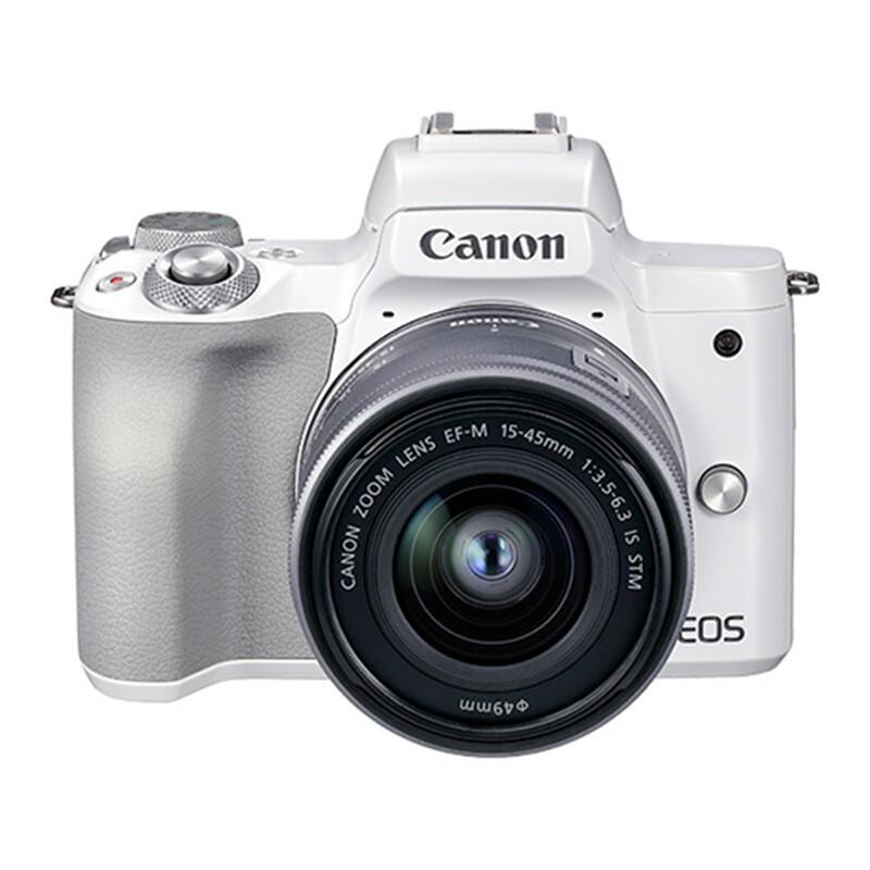 佳能(Canon)EOS M50 Mark II M50二代 微单相机 数码相机 白色(15-45 微单镜头)Vlog相机 4K 视频拍摄照相机