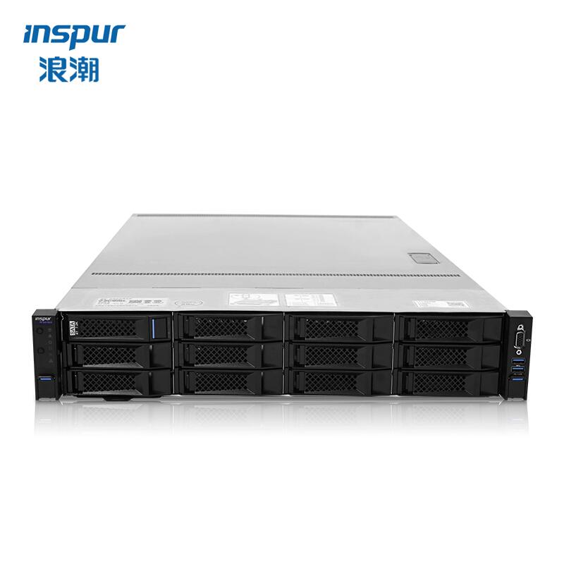 浪潮 NF5280M5 2U机架式服务器磁盘阵列 Intel Xeon 4210*2/64G RDIMM DDR4*8/4TB*4 SATA/网卡/SAS PM8222-SHBA/双电源/上架导轨